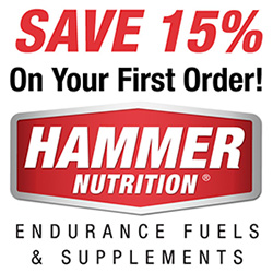 Save 15% off your first Hammer Nutrition order